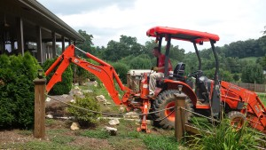 Backhoe Digging Septic Tank